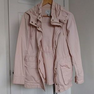 Forever 21 light pink anorak/utility jacket size M